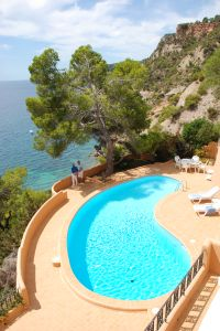 Luxury first line to sea villas for sale, Ibiza